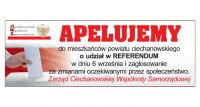 CWS wspiera akcję Idę na referendum w Ciechanowie!